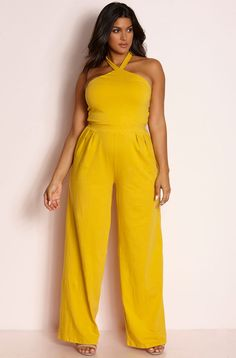 Rebdolls is an unapologetic apparel brand that produces missy and plus size fashion. Shop bodycon dresses, two piece sets, skirts, maxi dresses. Pleated Jumpsuit, Plus Size Jumpsuit, Yellow Jumpsuit, Cheap Boutique Clothing, Junior Party Dresses, Dress Clothes For Women, Plus Size Fashion, Fashion Top, Korea Fashion