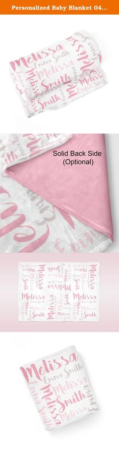 Personalized Baby Blanket 04 - Baby Name Swaddling Blanket, Baby Photo Prop. 1 Personalized Baby Blanket - makes a great Baby Gift ~ I Design and Customize, You Give the Perfect Gift!~ My Personalized Baby is perfect for a new mom or mom to be! Wrap your precious baby, with a warm embrace, in this soft and cuddly blanket. Savor those close moments with your sleeping baby, as they relax in the warm comfort of the blanket in your arms. Give a child you love, the gift of a personalized…
