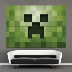 Minecraft Green PC Game  Block Giant Poster Art Prints   (P-0384) $19.99