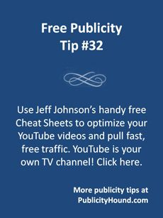 "#YouTube is your very own TV channel that can bring you new traffic, new fans and new customers. But it's hard staying on top of all the changes Google is making to the world's No. 1 video site. Jeff Johnson's brand new, ""completely updated for 2014″ set of free Cheat Sheets for YouTube (I'm an affiliate) is hot off the press! He also created a new 2.0 version of the training video. It reveals the 15 quick, easy ways to grab more free traffic from YouTube. Limited time only! #videomarketing"