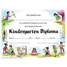 hayes school publishing kindegarten diploma certificate