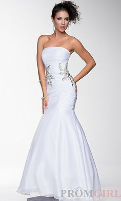 Strapless Floor Length Dress by Nina Canacci at PromGirl.com