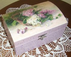 Decorated wooden box - painted