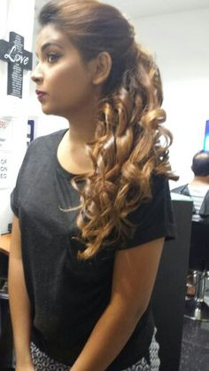 Curls to the side... rags hair and beauty