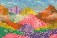 Orie's mountain art. #山 #山の絵 #山イラスト #山アート #mountainart #popart Mountain Art, Dawn, My Favorite Things, Painting, Painting Art, Paintings, Painted Canvas, Drawings