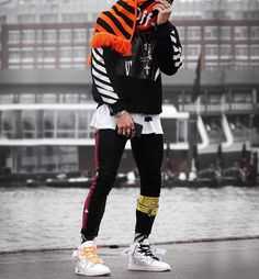 """""""off white"""" ------------------------ Trend Trendy Outfits Clothes Style Swag Outfits Men, Trendy Outfits, Cool Outfits, Men Looks, Sport Fashion, Mens Fashion, Looks Hip Hop, Look Cool, Hypebeast"""