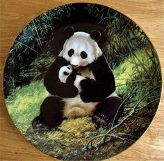 The Panda Collectors Plate by Will Nelson Last of Their Kind Endangered Species #CollectiblesByJo #Bonanza http://www.bonanza.com/listings/469319085