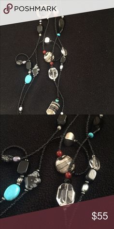 Silpada necklace Long and beautiful with several different beads, silver, turquoise, etc Silpada Jewelry Necklaces