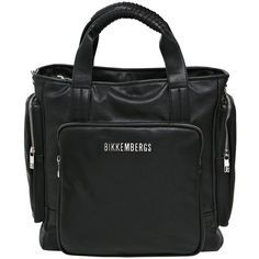 Bikkembergs Men Faux Leather Tote Bag featuring polyvore 28857e1b38c60