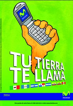 Poster for Movistar launch of new phone service product