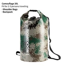 Camouflage / 20 l / 676.28 oz Survival Backpack, Hiking Backpack, Backpack Bags, Fashion Handbags, Fashion Bags, Fashion Backpack, Cycling Bag, Cycling Workout, Cycling Outfit