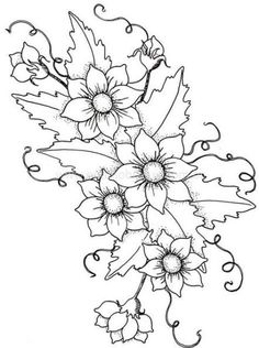 Embroidery Flower Patterns This is a good pattern for beginning needle/thread painting Embroidery Designs, Hand Embroidery Patterns, Cross Stitch Embroidery, Flower Embroidery, Thread Painting, Fabric Painting, Painting Flowers, Painting Patterns, Craft Patterns
