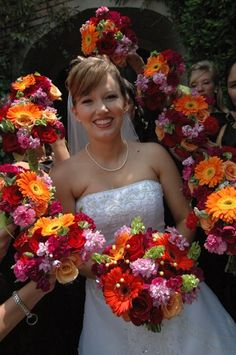 frame the bride with flowers