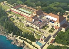 Villa of the Papyri in the ancient Roman city of Herculaneum by Rocío Espín Piñar on ArtStation Roman Architecture, Architecture Drawings, Historical Architecture, Ancient Architecture, Sustainable Architecture, Landscape Architecture, Ancient Rome, Ancient History, Ancient Greek
