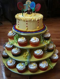 curious george cupcakes and cake