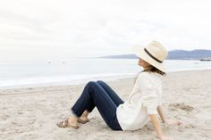 From Gap's Tumblr: Cuffed jeans are Jenni Kayne's favorite for early mornings on the beach in Santa Monica. See more of her effortless style: styld-by.com
