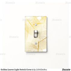 Golden Leaves Light Switch Cover 2
