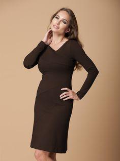 http://dd-atelier.com/Asymmetric-Milano-Dress-in-chocolate.html