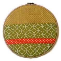 """Green, Yellow and Orange 10"""" Embroidery Hoop Organiser / For the Home / For the office / Office storage / Hanging storage"""