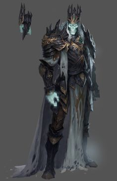 m Lich NE Robes Crown Ruins wilderness Dungeons & Dragons Monsters: The Undead I. Dark Fantasy Art, Fantasy Armor, Fantasy Character Design, Character Art, Death Knight, Undead Knight, Dnd Monsters, Armor Concept, Monster Art