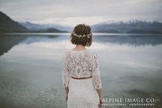 Boho Wedding Style. Lake Wanaka. Photography by Alpine Image Company