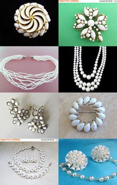 Winter Whites - Vintage Jewelry from Vjt by moonbeam0923 on Etsy--Pinned with TreasuryPin.com