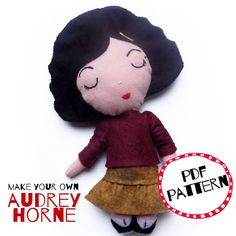 Audrey Horne, David Lynch, Make Your Own, How To Make, Twin Peaks, Felt Crafts, Crochet Hats, Snoopy, Crafty