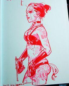 Sketchbook signed by Kim Jung Gi