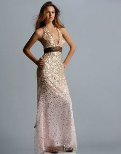SO many options... sparkles? strapless? and what color ...