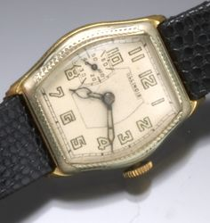 1920s Illinois Ensign two-tone gold-filled wrist watch