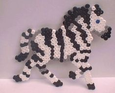Perler Bead zebra by snowy-wolf on @deviantART