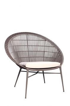 Ovata Occasional Chair With Cushion Metal Outdoor Chairs, Indoor Outdoor Furniture, Metal Chairs, Outside Furniture, Balcony Furniture, Rattan Furniture, Cheap Salon Chairs, Cheap Chairs, Baby Furniture Sets