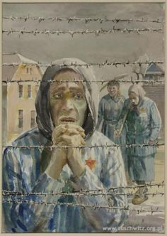 Holocaust prisoner art from death camp