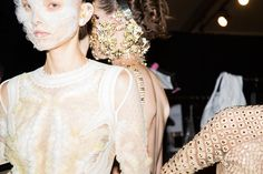 Make-up strassé du défilé Givenchy printemps-été 2016 à New York