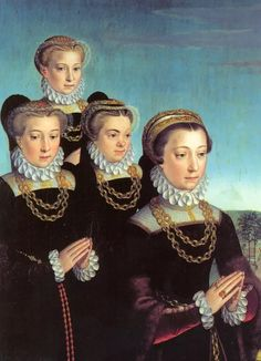 Johanna Voet de Boodt & her daughters. 1500s Fashion, Tudor Fashion, Europe Fashion, Fashion History, Mode Renaissance, Renaissance Fashion, Italian Renaissance, Historical Art, Historical Costume