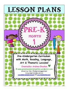 You are purchasing MONTH 1 of my unique Pre-Kindergarten curriculum that I wrote while teaching full day Pre-K in Texas. This curriculum was used by myself and my fellow team of Pre-K teachers. I have updated and adjusted activities and materials based on student interest and on what did and did not work (taking out the what did not work activities)!These lesson plans are designed for teachers to use to introduce children to letters, reading, math concepts and literature.