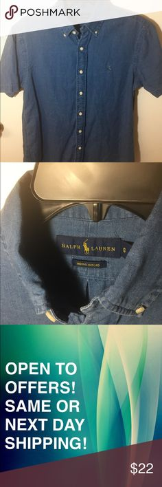 Casual Jean Button Down Polo Ralph Lauren SAME DAY SHIPPING! OPEN TO OFFERS! Size: S. A casual oxford Button Down by Ralph Lauren. In good condition, A great shirt for any closet. Polo by Ralph Lauren Shirts Casual Button Down Shirts