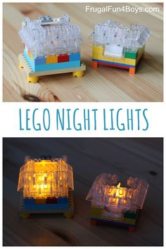 The dark is less scary when you have a LEGO night light! You and your child can build your own night light with these clever instructions!