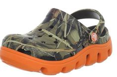 crocs Kids' Duet Sport Realtree Clog ** Be sure to check out this awesome product. Toddler Crocs, Toddler Boy Shoes, Clogs Outfit, Clogs Shoes, Real Tree Camouflage, First Walkers, Crib Shoes, Girls Shoes, Fashion Shoes