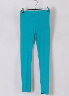Women Euro Style Long Pencil Pants Render Pants Green Cotton One Size@WH0103gr