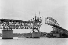 Auckland Harbour Bridge under construction Nz History, My Family History, Harbor Bridge, Auckland New Zealand, Heart For Kids, What Is Like, Historical Photos, Kiwi, Bridges