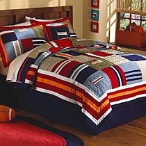 My World Ronnie Patchworks Full / Queen Quilt with 2 Shams