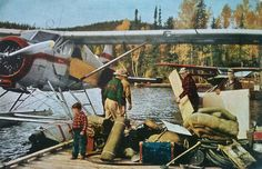 National Geographic, October 1954 Source: courageous-and-strong Outdoor Signs, Outdoor Art, Outdoor Camping, Adventure Time, Adventure Travel, Bush Pilot, Bush Plane, Fishing Photos, The Mountains Are Calling