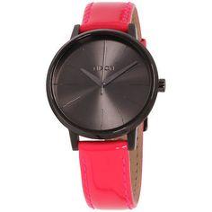 003028523164 Nixon Kensington Black Dial Leather Strap Ladies Watch A108139400 Cuero De  Color Rosa