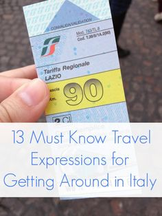 13 Must Know Travel Expressions for Getting Around in Italy