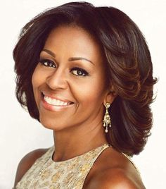 Michelle Obama Our first lady. She has poise, style, and that smile. It's great to see her in her efforts with nutrition and exercise for the youth in our country.