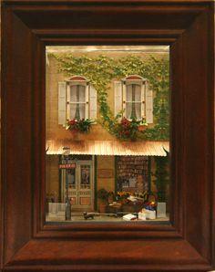 Paris Street Scene Quarter Scale Window Box by Charlotte Atcher