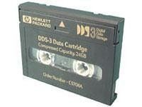 HP DAT DDS-3 Data Cartridge - DAT DDS-3 - 12GB (Native)/24GB (Compressed) - 1 Pack by HP. $7.75. DDS-3 4MM Tape Cartridge has a native capacity of 12 GB and a compressed capacity of 24 GB. Includes 125 meter tape length. This DDS cartridge offers a higher degree of protection for critical information than digital audio tapes. Designed to record computer generated data and to withstand the multiple passes and frequent repositions that occur between computers an...