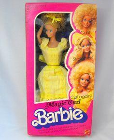 Barbie - Magic Curl Barbie, 1970s (I hated her hair lol)