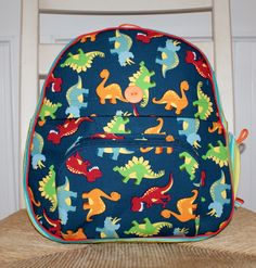 Dinosaur Custom Backpack by LiLiMcRiddles on Etsy